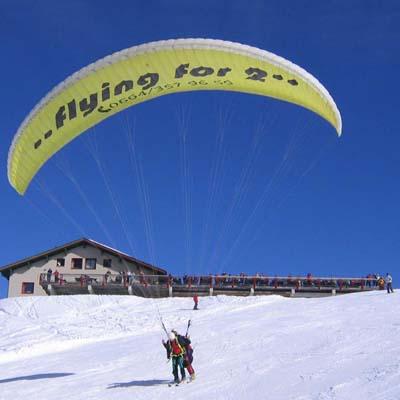 winter tandemflug montafon