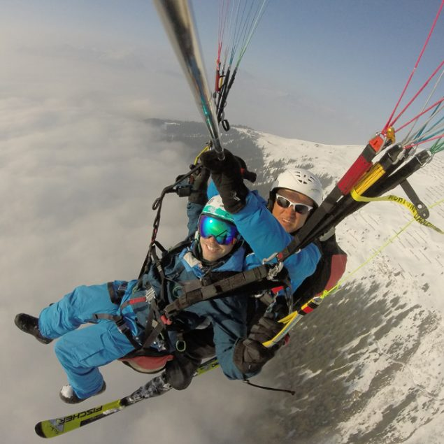 Tandemflug 7 winter Flyingfor2 im Montafon