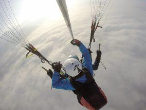 Tandemflug 4 winter Flyingfor2 im Montafon