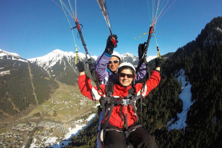 Tandemflug 2 sommer Flyingfor2 im Montafon